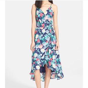 NWT - Joie Ruzena Navy Floral Midi Wrap Dress